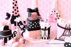 Set of Paris oh la la cupcake/cake toppers by CakesbyAngela