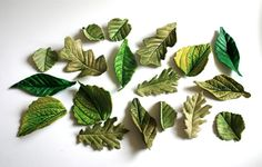 Edible Sugar Woodland Foliage 24 assorted by andiespecialtysweets, $60.00