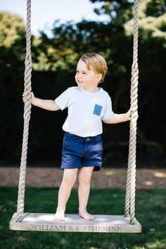 The Prince George photo album: see the new series of portraits of the little prince to celebrate his third birthday