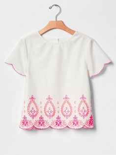 Bright eyelet top Product Image