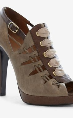 Grey, Blush And Brown Booties - GIVENCHY