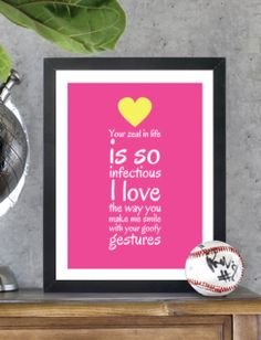 Your zeal in life is so infectious. I love the way you make me smile with your goofy gestures. - Framed Art Print