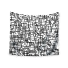 "Trebam ""Komada"" Black White Wall Tapestry"