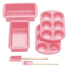 At Target!  Silicone Solutions 6-pc. Bread Baking Set - Pink
