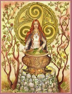 Brigid es la Diosa Celta del caldero, la Dama amorosa y sanadora que despierta del frío del invierno para hacer que la luz vuelva a la tierra y todo renazca. El 1 y 2 de Febrero es la fiesta de Brigid, celebremos a la Diosa )0(