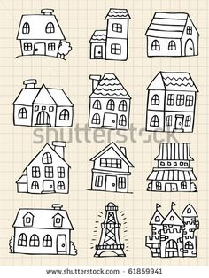 Find cute house draw Stock Vectors and millions of other royalty-free stock photos, illustrations, and vectors in the Shutterstock collection. Thousands of new, high-quality images added every day. Doodle Drawings, Easy Drawings, Doodle Art, Doodle Lettering, Hand Lettering, Drawing Lessons, Art Lessons, Drawing Tips, Draw Tutorial