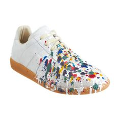 Maison Martin Margiela Paint Splatter Low Top at Barneys.com 40% off and they're still over $300....:( #poorperson