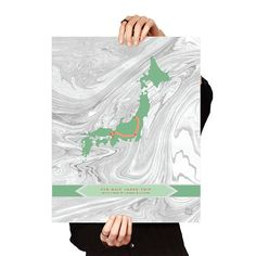 Hip CUSTOM Personalized Travel/Memory Map Marbled / Mint.  Hip and  Modern Custom Travel Map. Hip My Trip.    #travel #trip #hipmytrip #design #poster #custom #gift #giftidea #giftideas #travelgift #graphicdesign