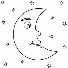 Moon Coloring Pages To Download And Print For Free 31676 In 2020 Moon Coloring Pages Star Coloring Pages Coloring Pages