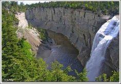 Chute Vauréal - Île d'Anticosti,Québec. Canada, Waterfalls, Montreal, Places, Fall Of Man, Madeleine, Lugares, Falling Waters, Waterfall