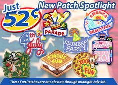 Over 1,000 Stock Fun Patches with age appropriate themes at lower prices and home iron approved.