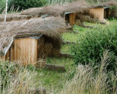 Huts by Patrick Bouchain and Alexandre Gauthier near Montreuil,...