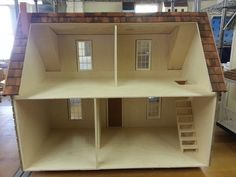Finished 1 Inch Scale Adirondack Log Cabin Dollhouse Model