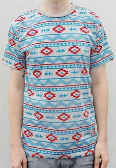 Aztec Tshirt - Grey