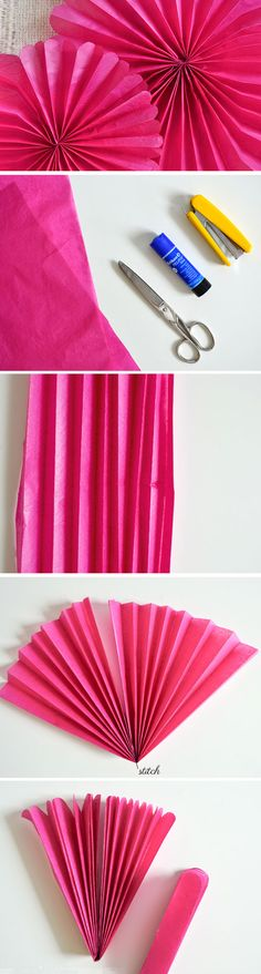 Tissue Paper Rosettes | DIY Engagement Party Decorations Ideas Decor