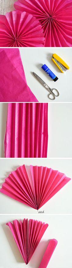 Tissue Paper Rosettes | DIY Engagement Party Decorations Ideas Decor