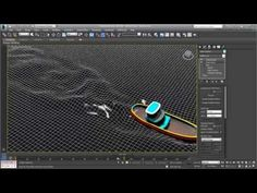 Creating Water Ripple Effects in Max - Part 8 - Animating Wakes Cinema 4d Tutorial, 3d Tutorial, Car Design Software, Maya Modeling, Learning Channel, 3ds Max Tutorials, Polygon Modeling, 3d Home Design, Blender Tutorial