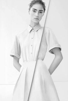 """theideaofsimplicity: """" inspiration for www.duefashion.com """" Marine Deleeuw for Jil Sander Navy Spring/Summer 2014 Advertising Campaign by Karim Sadli. """" """""""