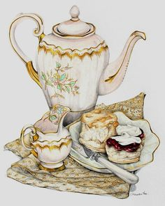 Уютное чае-кофе-питие с десертом...к празднику | Alexandra Nea Graham. Обсуждение на LiveInternet - Российский Сервис Онлайн-Дневников