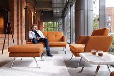 October sofa range by Profim. Reception Seating, Floor Seating, Soft Seating, Soft Flooring, Flooring Options, Reception Furniture, Outdoor Furniture Sets, Contemporary Armchair, Floor Colors