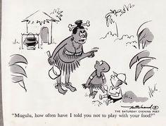 Funny cannibal joke cartoon
