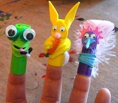 Make puppets with marker caps :) Too cute.
