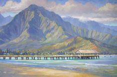 Hanalei Pier Painting by Jenifer Prince