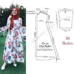 Creating DIY Fashion Trends – Designer Fashion Tips Muslim Fashion, Hijab Fashion, Fashion Dresses, Dress Sewing Patterns, Clothing Patterns, Fashion Sewing, Diy Fashion, Moda Hijab, Abaya Pattern