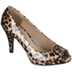 Women's Merona Magee Peep Toe Platform Pump - Brown Cheetah found on Polyvore
