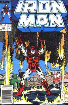 Cover for Iron Man September 1987 Marvel Iron Man Comic Books, Marvel Comic Books, Comic Books Art, Comic Art, Book Art, Avengers Movies, Dc Comics Superheroes, Marvel Heroes, Marvel Comics