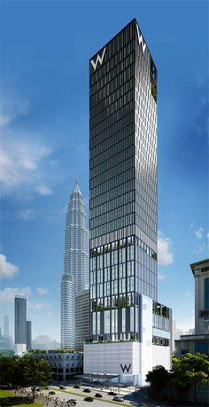W Hotel & Residences Kuala Lumpur by SOM Architects :: 50 floors