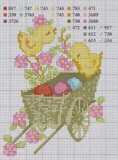 Tiny Cross Stitch, Beaded Cross Stitch, Cross Stitch Animals, Counted Cross Stitch Patterns, Cross Stitch Charts, Cross Stitch Designs, Cross Stitch Embroidery, Easter Cross, Stuffed Animal Patterns