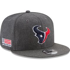 New Era Men s Houston Texans Crafted in the USA Grey 9Fifty Adjustable Hat 4a2767e68