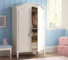 White Classic Armoire, would be a great closet! #potterybarnkids