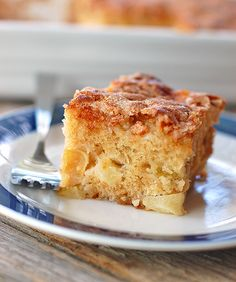Recipe:  Cinnamon Sugar Apple Cake