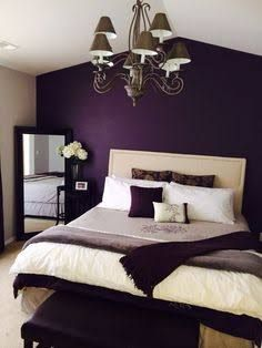 dark brown and plum bedrooms modern budget - Google Search