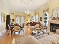 Grand Mansion in New Orleans: Living Room Gardner Realtors New Orleans Mansion, Parade Route, Mardi Gras Parade, Travel Usa, Home Goods, Sweet Home, Mansions, Cool Stuff, Living Room