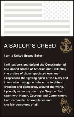 a sailors creedi am a united states sailor