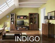 Kolekcja Indigo – wspaniałe meble, które wyróżniają się przede wszystkim oryginalnym dekorem. Ciemny i jednocześnie ciepły brąz dekoru Dąb Durance, dyskretnie uwydatnia pionowe i poziome linie słojów. New Living Room, Sideboard, Indigo, Modern, How To Plan, Interior Design, Furniture, Color, Home Decor