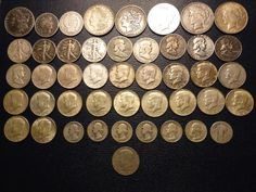 45 US COIN LOT FROM 1889 TO 1969 - 589 GRAMS