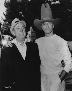 Jerry and co-star Ed Wynn on the set of Cinderfella, 1959