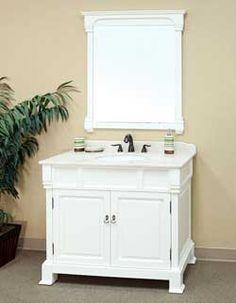 "42"" Bellaterra Home Bathroom Vanity 205042-WH #BathroomRemodel #BlondyBathHome #BathroomVanity   #TransitionalVanity"
