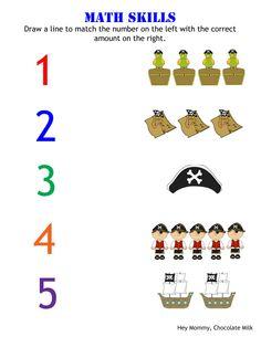 1-1-relatie / cijferherkenning tot 5