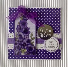 Card created using Ultra Violet Flora Collection, made by Julie Hickey www.craftworkcards.com Craftwork Cards, Card Sketches, Homemade Cards, Ultra Violet, Card Ideas, Flora, February, Projects To Try, Vogue