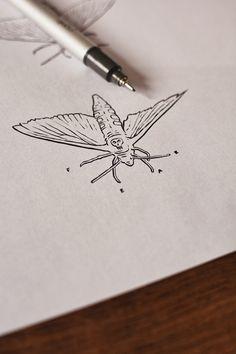 Crimson Peak - Legendary's Art Series | Abduzeedo Design Inspiration Crimson Peak, Butterfly Art, Butterflies, Hand Art, Art Series, Art Sketchbook, Ink Painting, Body Mods, Beautiful Tattoos