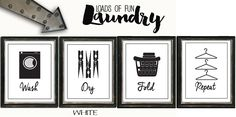 Set of 4! Lovify Your Laundry