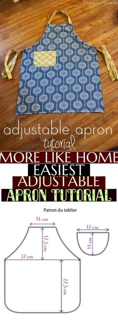 Discover recipes, home ideas, style inspiration and other ideas to try. Apron Tutorial, Style Inspiration, Couture, Home, Aprons, Apron, Haute Couture