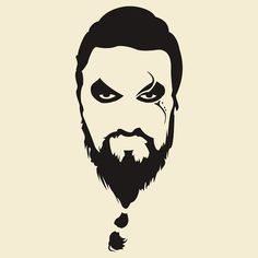 Khal Drogo Silhouette Game of Thrones by manoffreedom