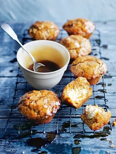 carrot cake muffins with spiced honey glaze / donna hay magazine winter issue #81