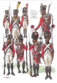 Swiss; 3rd Infantry Regiment, Other Ranks, 1807-1812 by Patrice Courcelle